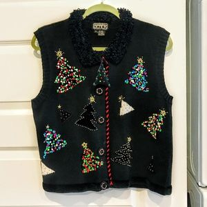 Ugly Vintage Christmas Sweater Vest
